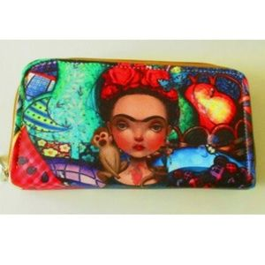 Handbags - Frida Kahlo Wallet Dual Compartment Zip Around